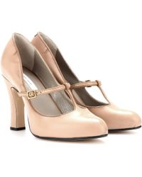 Marc Jacobs Maryjane Leather Pumps - Lyst