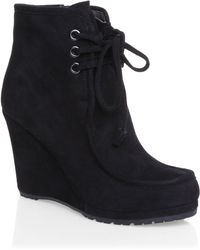 Mascotte - Laceup Wedge Boots - Lyst