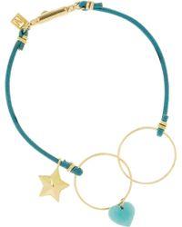 Inez & Vinoodh - 18karat Gold Turquoise and Leather Bracelet - Lyst