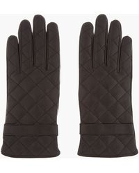 Mackage - Black Quilted Leather Lennon Gloves - Lyst