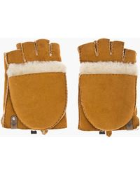 Mackage - Tan Suede Shearling_lined Lennon Smokers Gloves - Lyst