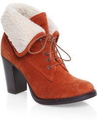 Mascotte - Foldover Faux Shearling Cuff Boots - Lyst