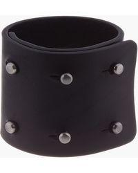 Rick Owens - Black Leather Collar Pin Bracelet - Lyst