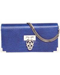Thomas Wylde Croc Embossed Leather Chain Bag - Lyst