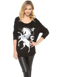Wildfox Unicorn Sweater - Lyst