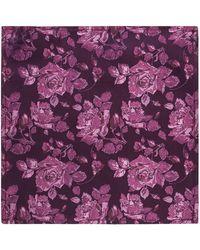 Alexandre Of England - Purple Rose Hankerchief - Lyst