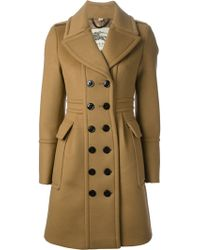 Burberry Double breasted Coat - Lyst