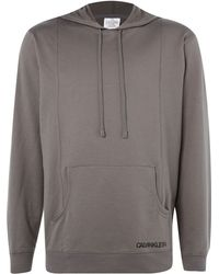 Calvin Klein French Terry Hooded Top - Lyst