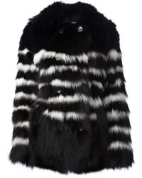 Each X Other Striped Fur Jacket - Lyst