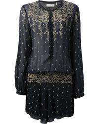 Etoile Isabel Marant Silk Dress - Lyst