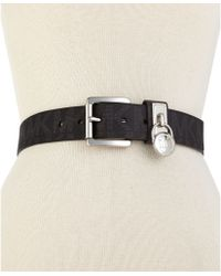Michael Kors Michael Classic Roller Logo With Hamilton Lock Belt - Lyst