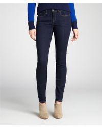 Notify Dark Blue Stretch Denim Low Rise 'Bamboo' Skinny Jeans - Lyst