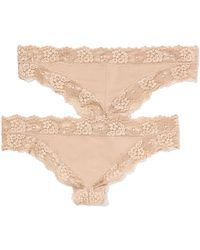 Victoria's Secret Lace Trim Mini Cheekster Panty  - Lyst