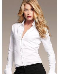 Victoria's Secret The French Cuff Poplin Shirt - Lyst