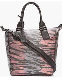 McQ by Alexander McQueen Red Ombre and Zebra Print Stepney Tote - Lyst