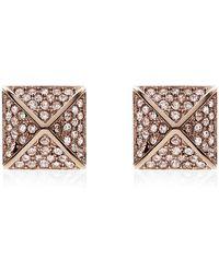 Michael Kors - Pave Pyramid Stud Earrings - Lyst
