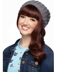 ModCloth - Beignet Or Nay Hat in Grey - Lyst