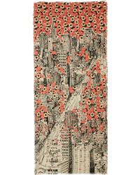 Play Mantero - Ivory New York Print Scarf - Lyst