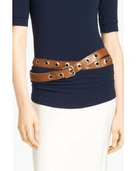 Donna Karan New York Collection Grommeted Hip Belt - Lyst