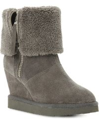 Dune Reach Suede Ankle Boots - Lyst