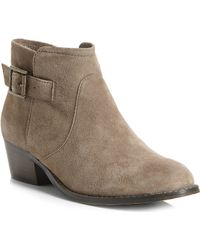 Steve Madden Prizzze Suede Ankle Boots Taupesuede - Lyst