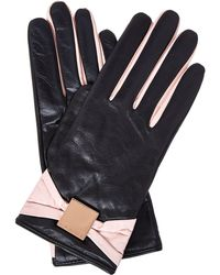 Ted Baker - Bow Leather Touch Screen Gloves - Lyst