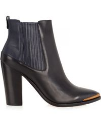 BCBGMAXAZRIA - Gerie Twotone Leather Ankle Boots - Lyst