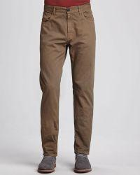 Billy Reid Fivepocket Cotton Pants Olive - Lyst