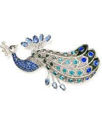 Carolee - Regal Reflections Peacock Pin - Lyst