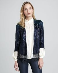 Haute Hippie Flapper Fringetrim Beaded Jacket - Lyst