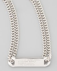 Marc By Marc Jacobs - Chain Loop Standard Supply Necklace Silvertone - Lyst