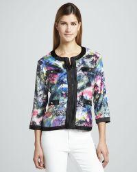 Michael Simon Sequined Print Zip Jacket - Lyst