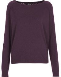 Topshop Knitted Lace Back Jumper - Lyst