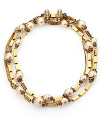 Aerin Erickson Beamon - Crystal Bead Link Necklace - Lyst