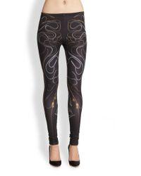 McQ by Alexander McQueen Zipperprint Leggings - Lyst