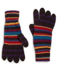 Paul Smith - Multistriped Knit Gloves - Lyst