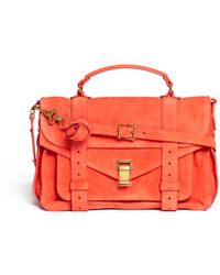 Proenza Schouler - Ps1 Medium Suede Satchel - Lyst