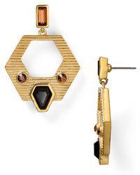 T Tahari - Project 9 Open Design Drop Earrings - Lyst