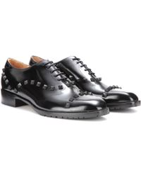 Valentino Rockstud Leather Oxfords - Lyst