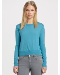 Acne Studios Lia Silkpaneled Wool Sweater - Lyst