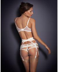 Agent Provocateur Lacy Suspender white - Lyst