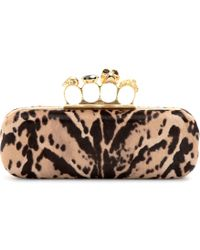 Alexander McQueen Knuckle Pony Hair Box Clutch - Lyst