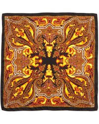 Givenchy - Flame Printed Silktwill Scarf - Lyst