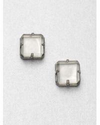 Marc By Marc Jacobs Faceted Cube Stud Earrings - Lyst
