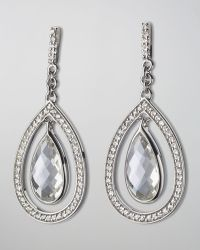 Monica Rich Kosann - Sapphire-Trim Rock Crystal Teardrop Earrings - Lyst