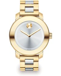 Movado Bold Two-Tone Ip Stainless Steel Bracelet Watch/36Mm - Lyst