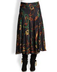 Ralph Lauren Blue Label Lula Silk Bridleprint Skirt - Lyst