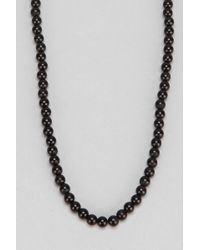 Urban Outfitters - Glossy Bead Necklace - Lyst