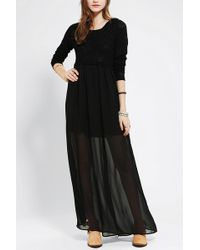Urban Outfitters Pins and Needles Hooded Maxi Dress - Lyst