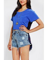 Urban Outfitters  Flannel High Low Tee - Lyst